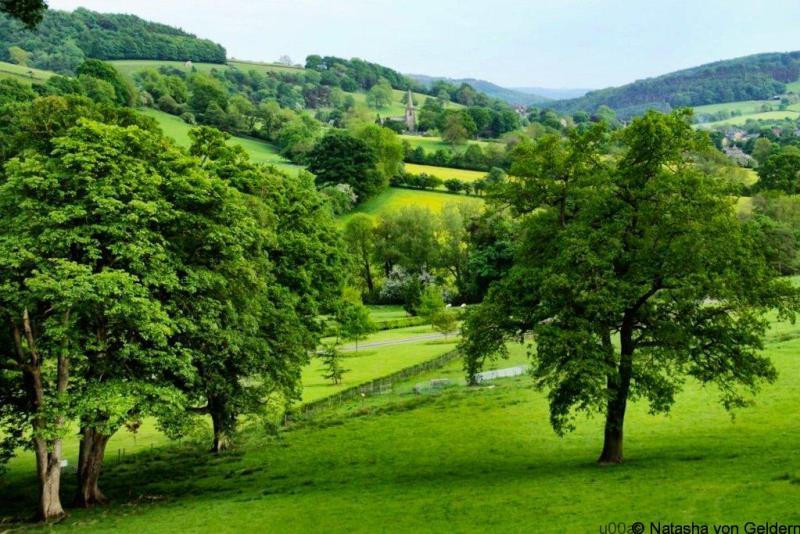 Derbyshire countryside near Hathersage England