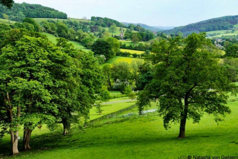 Derbyshire countryside near Hathersage England