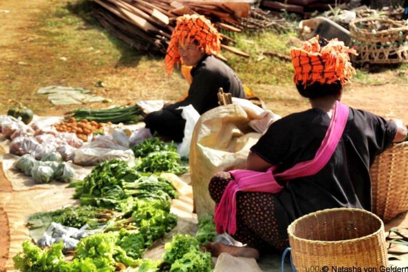 Indein village market, Myanmar