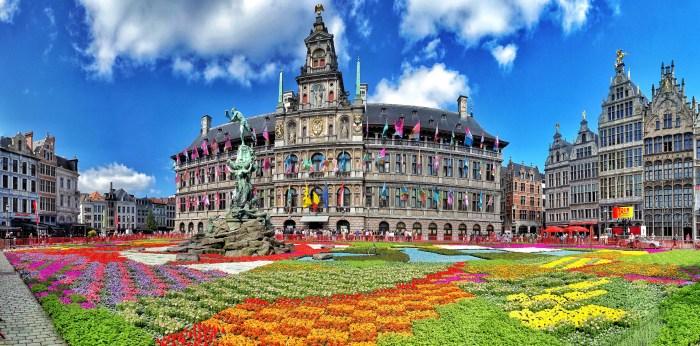 Flower Carpet Grand Place Antwerp Belgium (3)x