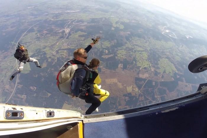 skydiving at skydive spa