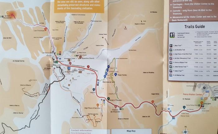 Petra map trails