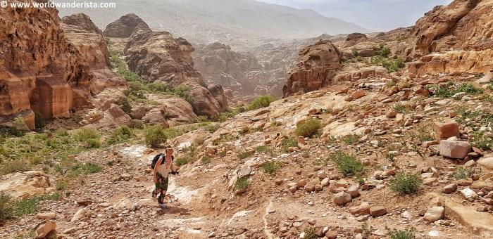 Two days in Petra Al Khubtha trail