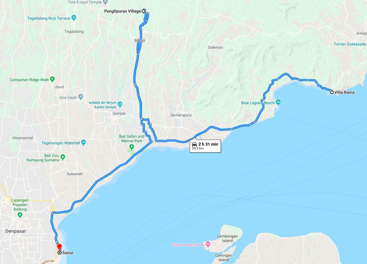 Bali-Road-Trip-Map-penglipuran - World Wanderista