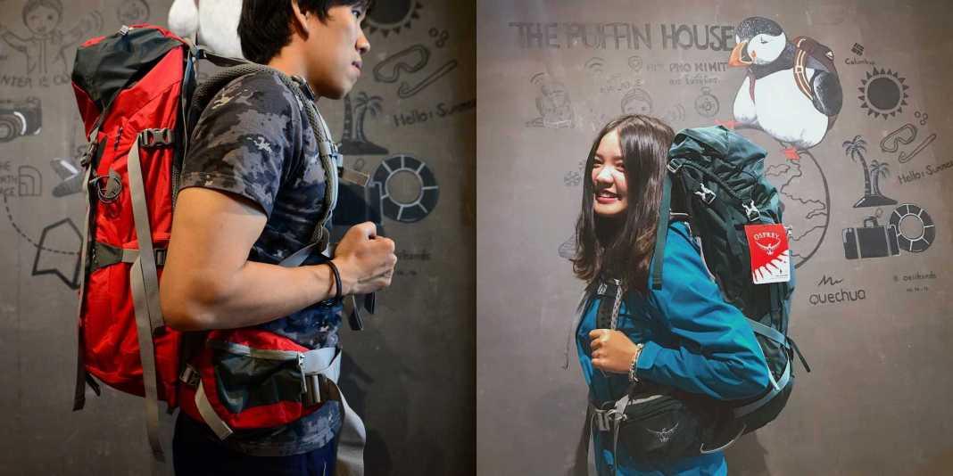 เป้ผู้ชาย-เป้ผู้หญิง เหมือนหรือแตกต่าง? ซ้าย : Deuter Act lite 40+10 ขวา : Osprey Aura 50 AG