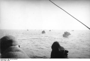 Refugiados que cruzan el Mar Báltico durante la Operación Aníbal.