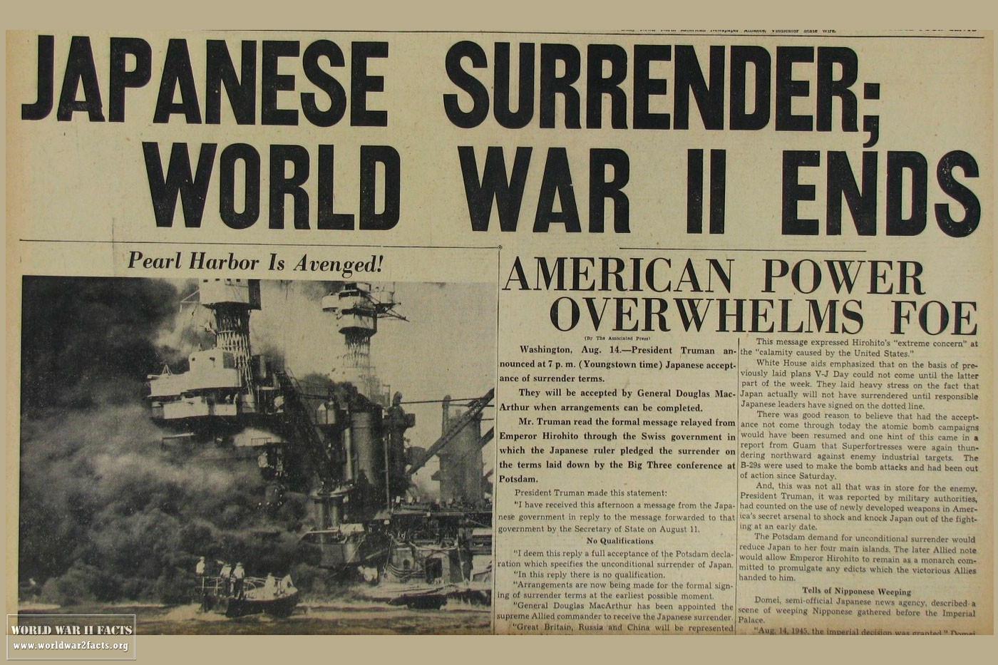 When Did World War 2 End