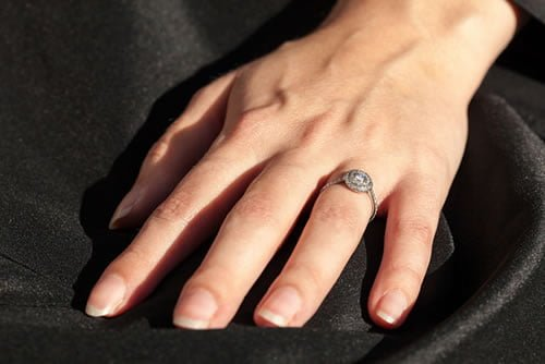 The double band ring looks like two rings merged into one and creates a distinct, beautiful look.