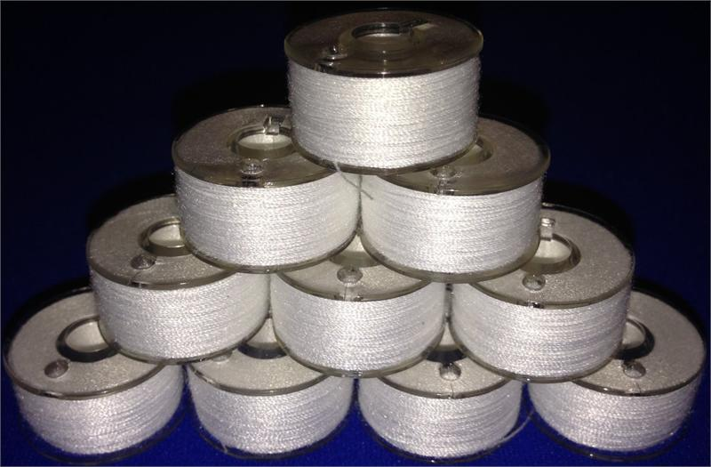 Prewound 90 Weight Thread Embroidery Bobbins Size A Class 15 Style 15J SA156