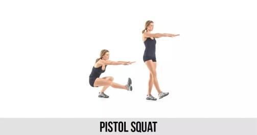 Image result for Pistol Squats exercise
