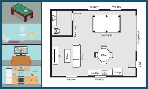 small resolution of custom layout of a steel building kit for a man cave