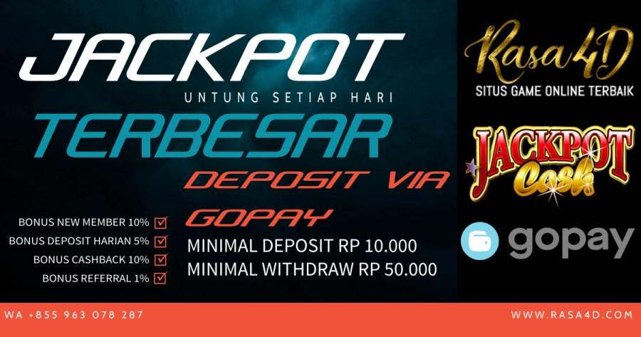 Judi Slot Online Via GOPAY Minimal Deposit 10Ribu Jackpot Terbesar