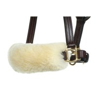 noseband cover sheepskin stephens