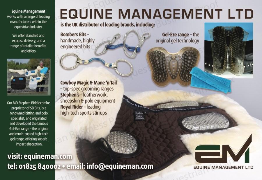 Equine Management Ltd is the UK distributor of leading brands