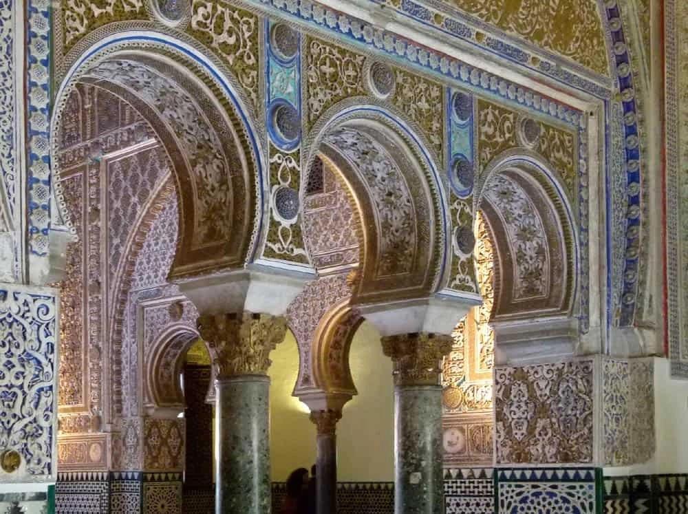 Moorish arches of the Alcazar, Seville