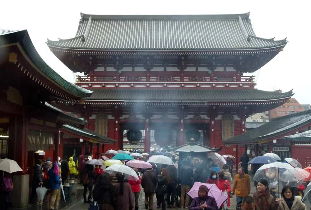 Rain, Incense and Fortune Telling at Tokyo's Senso-ji Temple