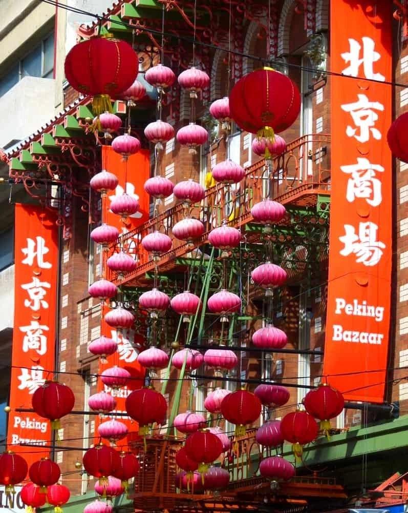Red lanterns, San Francisco