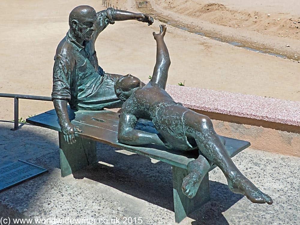 Outdoor sculpture in Tossa de Mar
