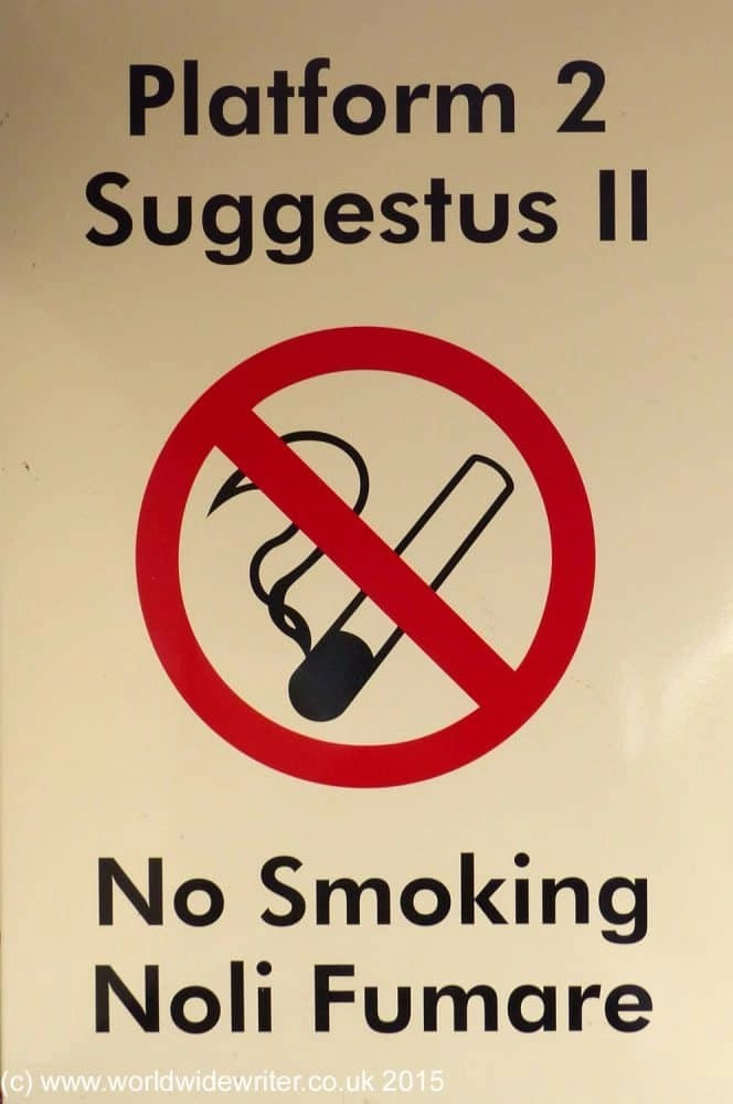 No smoking sign, Wallsend Metro
