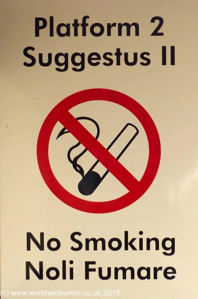No smoking sign, Wallsend Metro