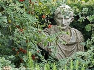 Caesar's Heads, Burghley Garden of Surprises - www.worldwidewriter.co.uk