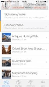 London walks with GPSmyCity - www.worldwidewriter.co.uk