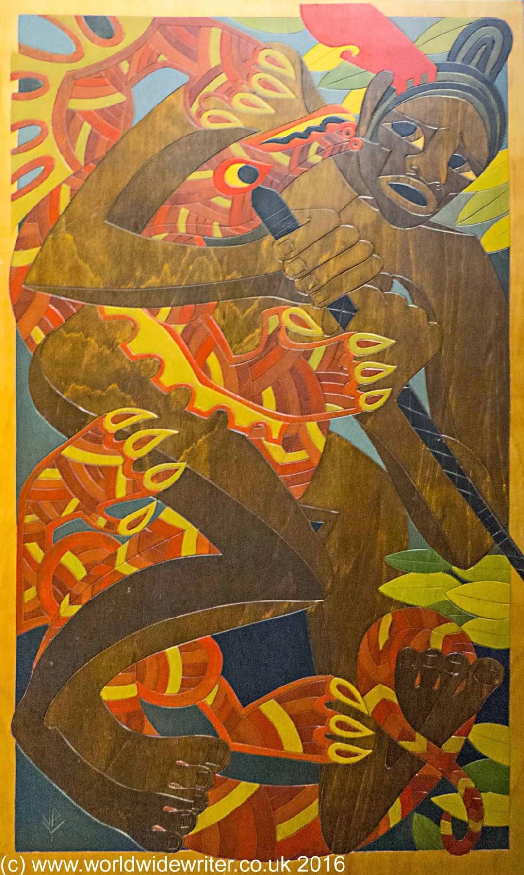 Maori art in the Russell Museum - www.worldwidewriter.co.uk