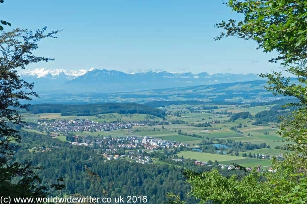 A view of the Alps