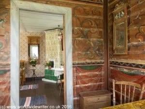 Inside an old farmhouse