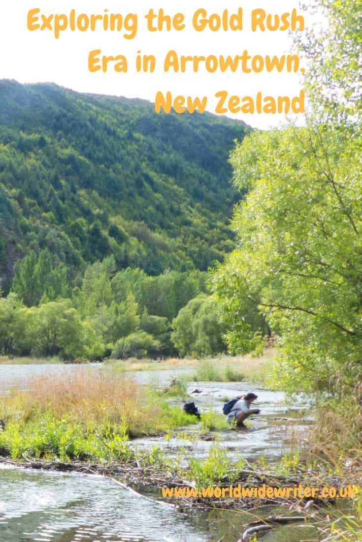 Gold panning in Arrowtown, New Zealand