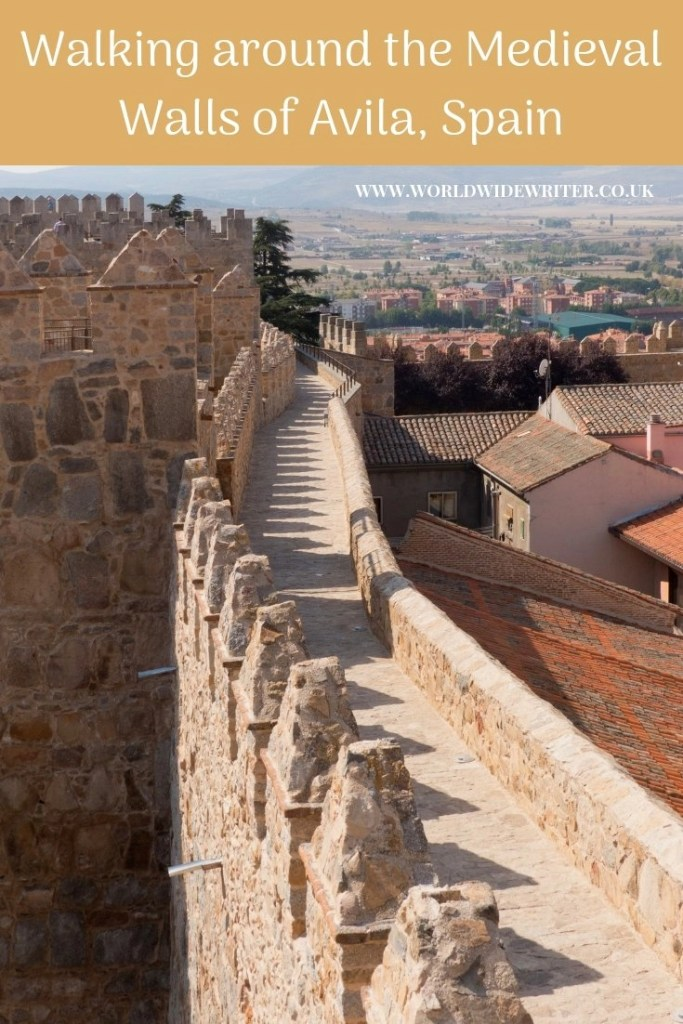 Walking around the Medieval Walls of Avila, Spain