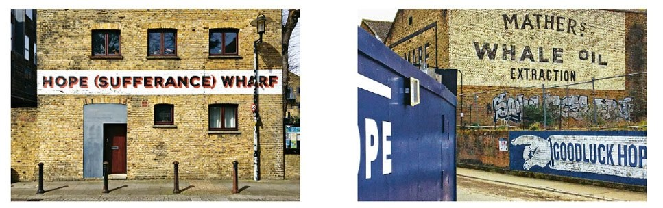 Ghost signs in London's Docklands