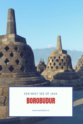 De Borobudur is een van de bezienswaardigheden die je niet mag missen als je op Java bent #Indonesië #Borobudur #Java