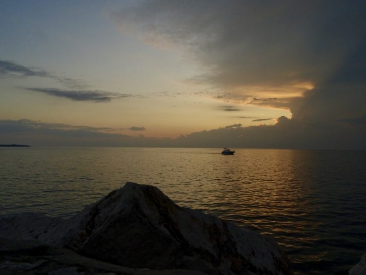 zonsondergang Piran