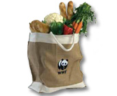 WWF Panda logo large jute bag