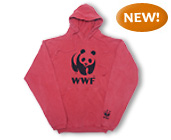 New WWF panda logo red sweatshirt