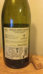 Cotes du Rhone Villages 2016 Back
