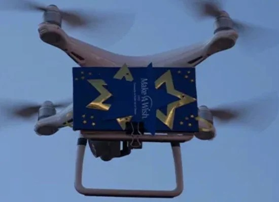Richard's wish is to have a computer, but a Wish Drone came to his front door!