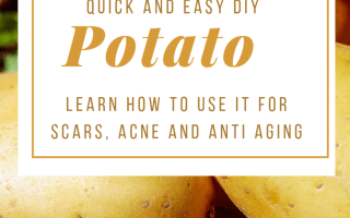 Potato for skincare
