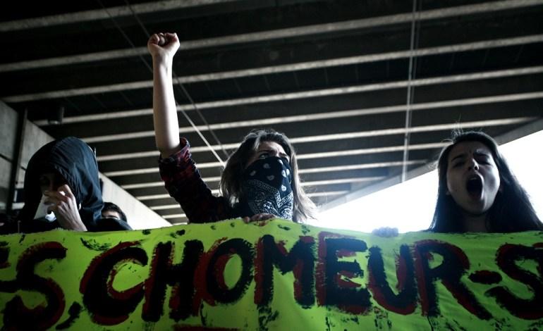 17 Mars 2016: Jour de manifestation, un des plus grands cortège de la mobilisation sera vu dans les rues. Les étudiants et syndicats investiront la gare (Image), bloquant le trafic pendant une heure.© Jérémie Verchere/Wostok Press