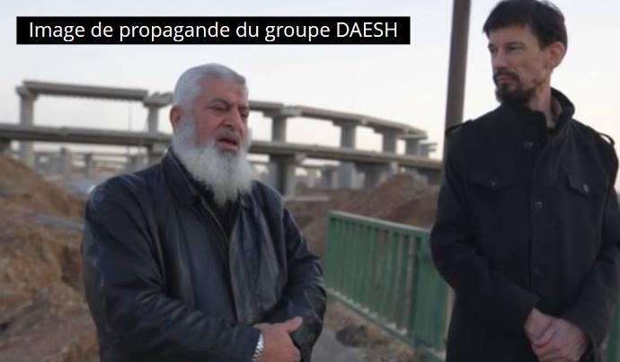 Capture d'écran de la vidéo de propagande de Daesh