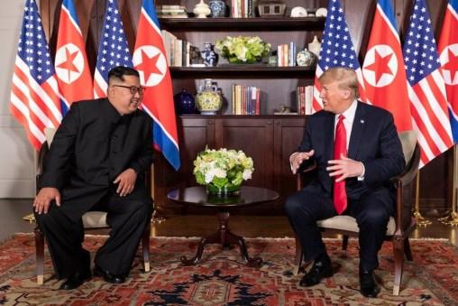 Donald Trump et Kim Jong Un à Sentosa, le 12 juin 2018, Singapour.