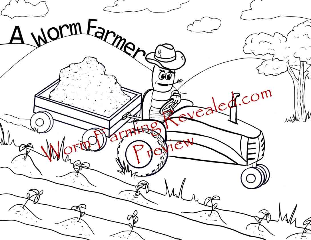 Worm Farming Coloring Book