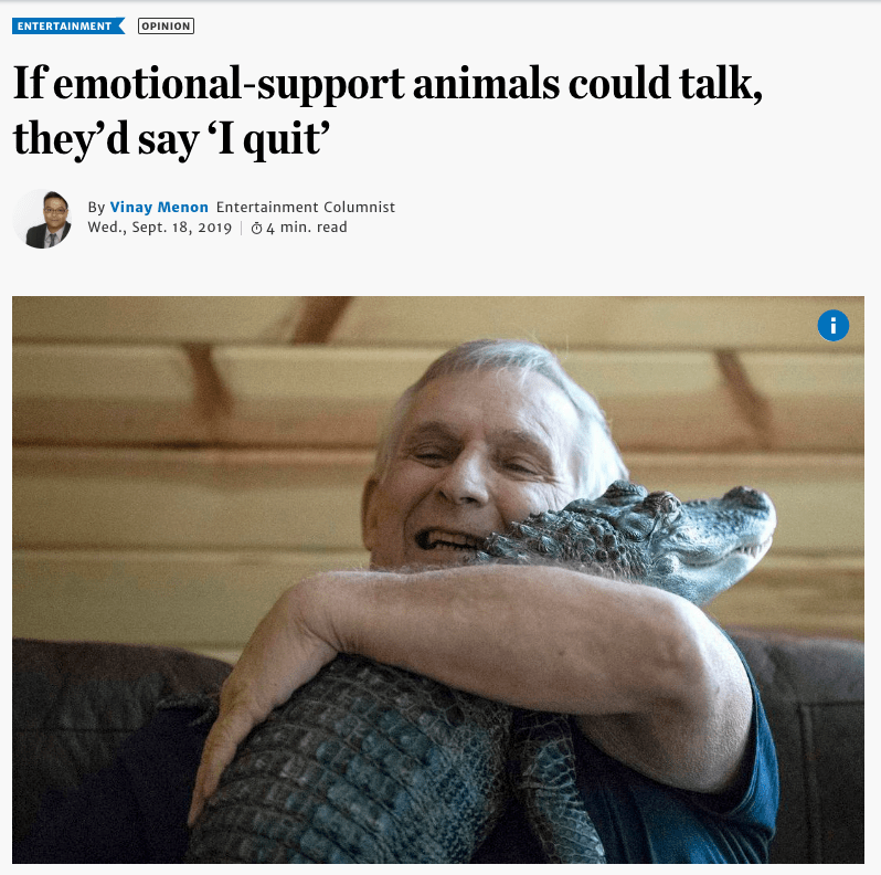 Service therapy and emotional support animal odds and ...