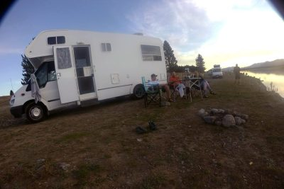 Campervan camp site   South Island   New Zealand