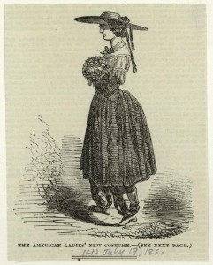 Bloomer costume, 1851