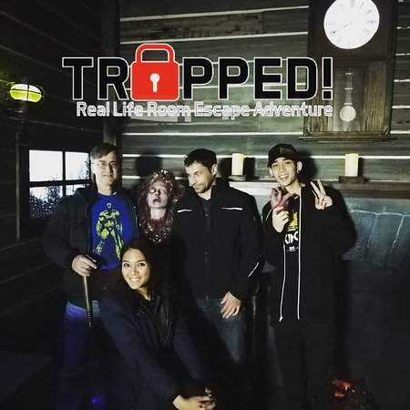 Happy guests at Trapped! Escape Room Las Vegas