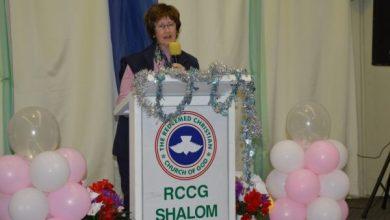 Photo of The Mayor of the city of Belmont; Glenys Godfrey Worships At RCCG Australia