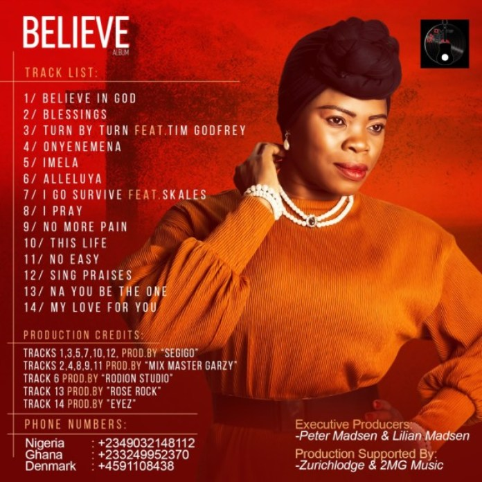 Lilian Dinma - Believe back cover