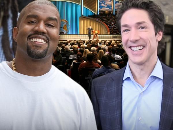 Kanye with Joesl Olsteen